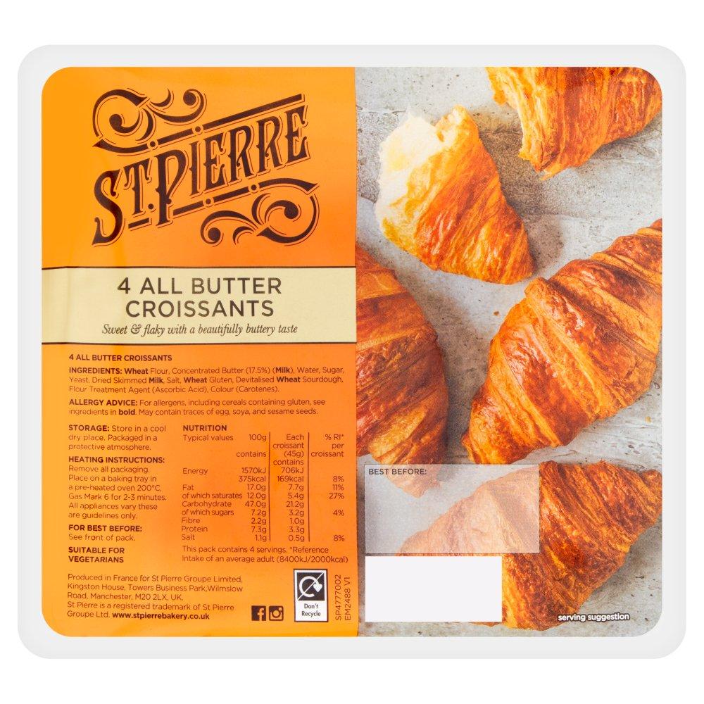 St Pierre 4 All Butter Croissants