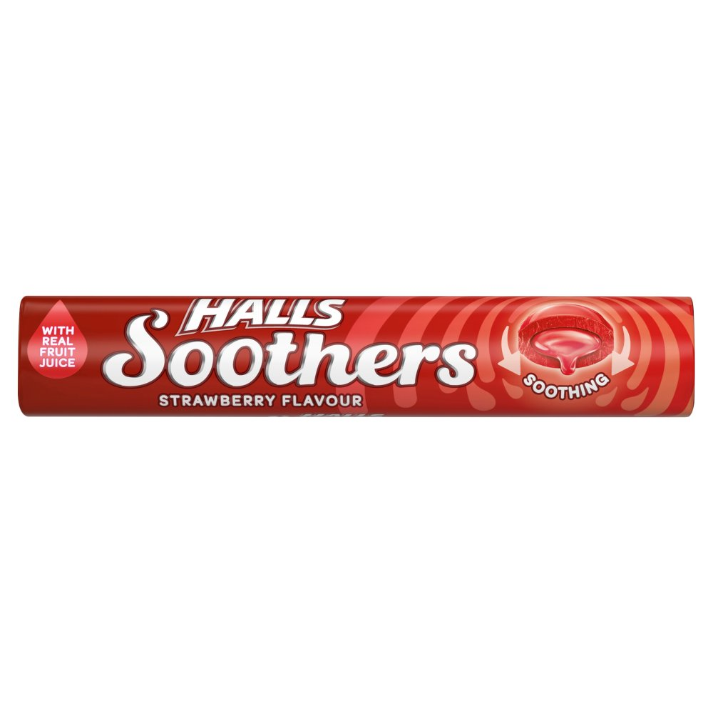 Halls Soothers Strawberry Stick
