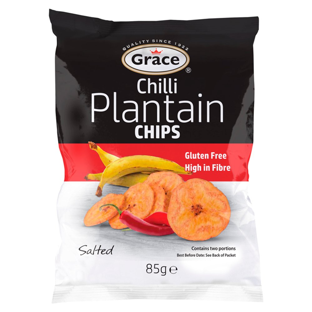Grace Chilli Plantain Chips Salted 85g
