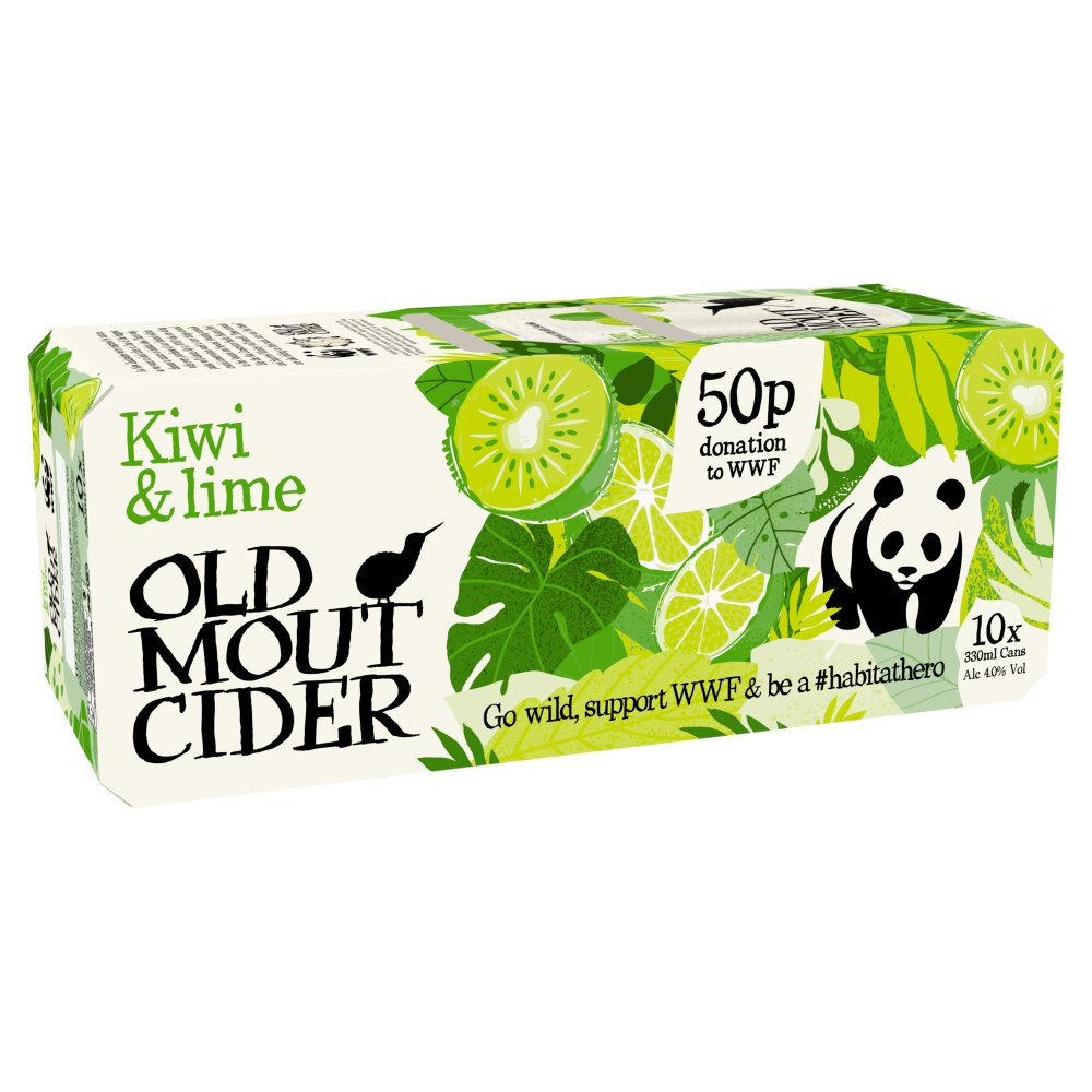 Old Mout Cider Kiwi & Lime 10 x 330ml Cans