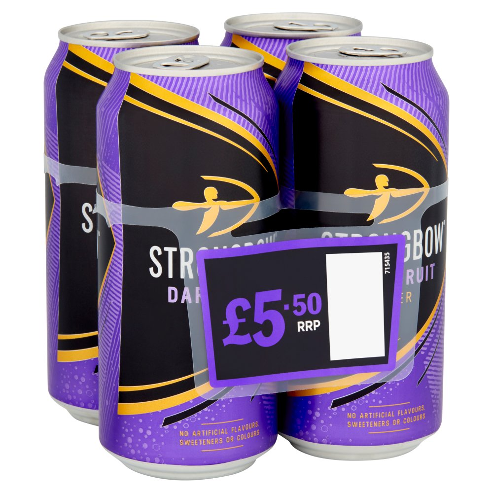 Strongbow Dark Fruit Cider 4 x 440ml