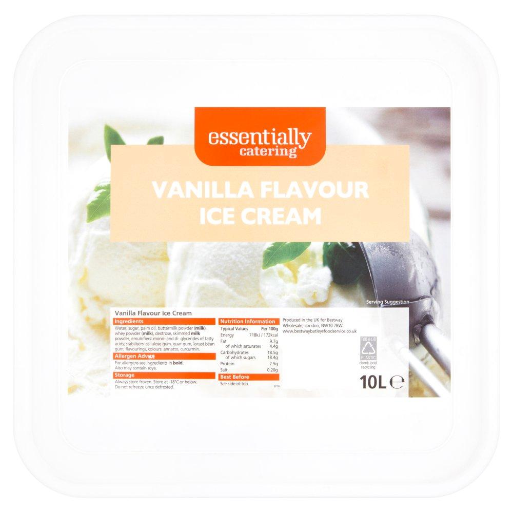 Essentially Catering Vanilla Flavour Ice Cream 10L