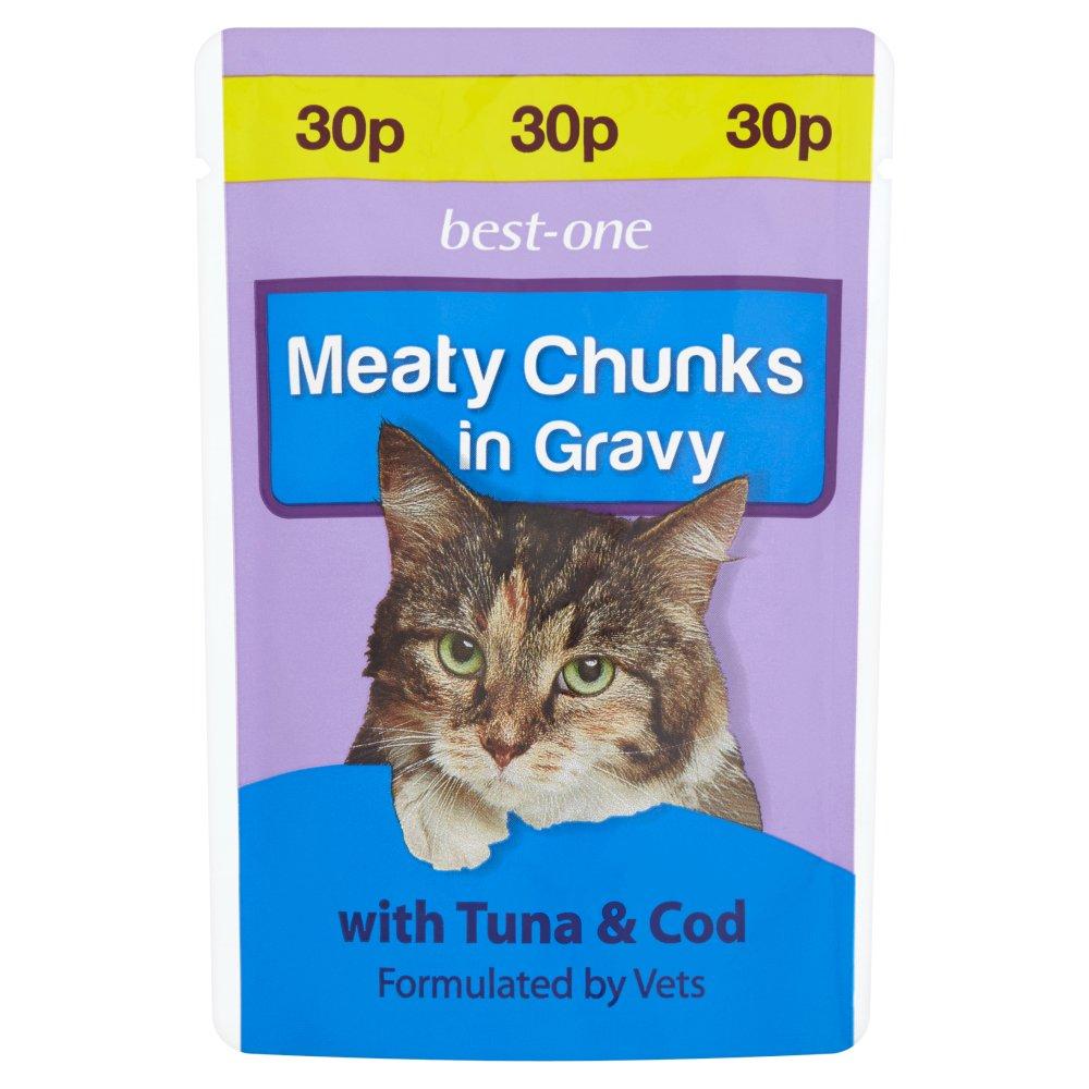 Best-One Meaty Chunks in Gravy with Tuna & Cod 100g