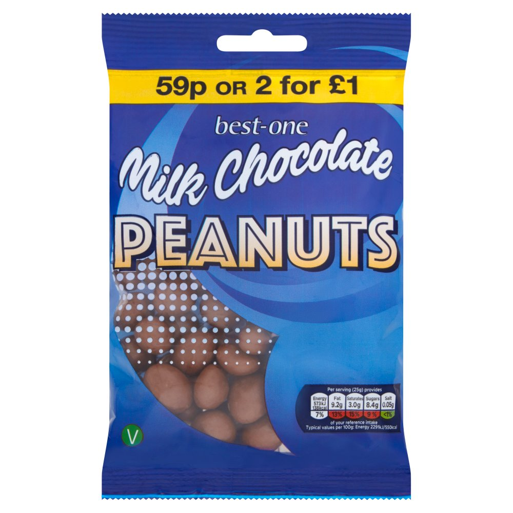 Best-One Milk Chocolate Peanuts 75g