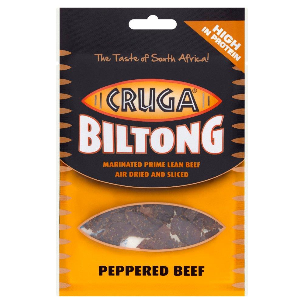 Cruga Biltong Peppered Beef 25g