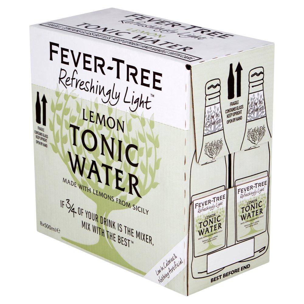 Fever-Tree Refreshingly Light Lemon Tonic Water 8 x 500ml