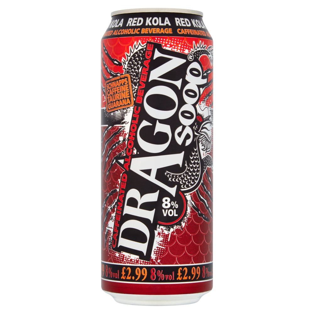 Dragon Soop Caffeinated Alcoholic Beverage Red Kola 500ml