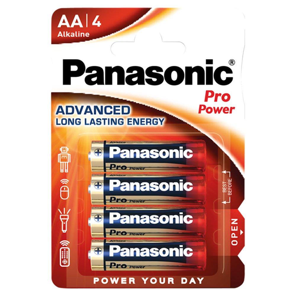 Panasonic Pro Power AA Batteries Alkaline 4 Pack