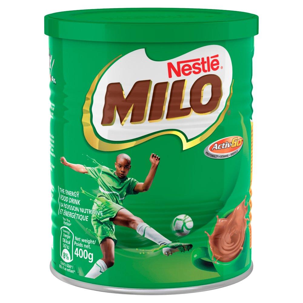 Milo Instant Malt Chocolate Drinking Powder 400g Tin (African)