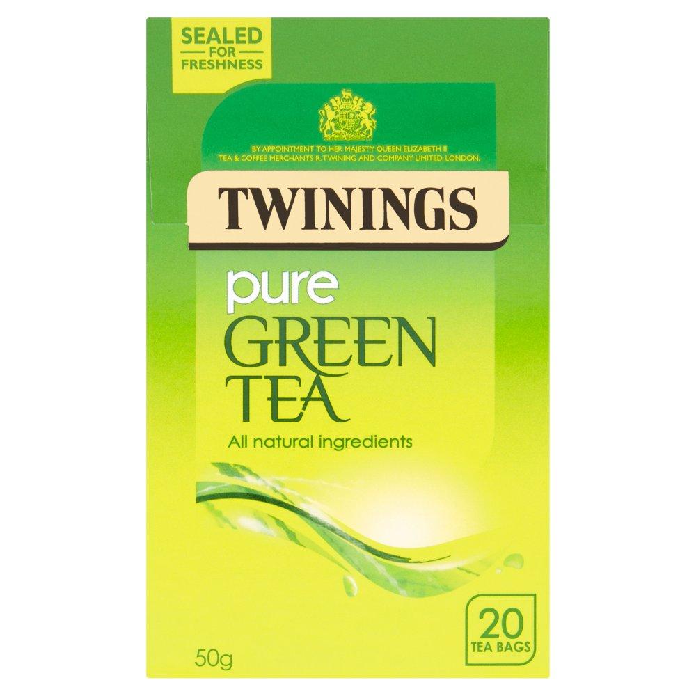 Twinings Pure Green Tea 20 Single Tea Bags 50g