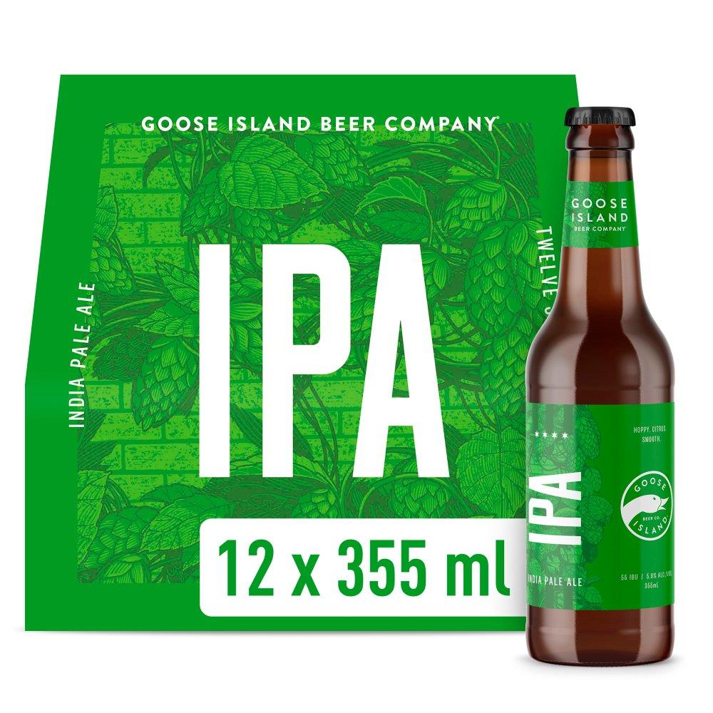 Goose Island IPA Craft Ale Beer Bottles 12 x 355ml