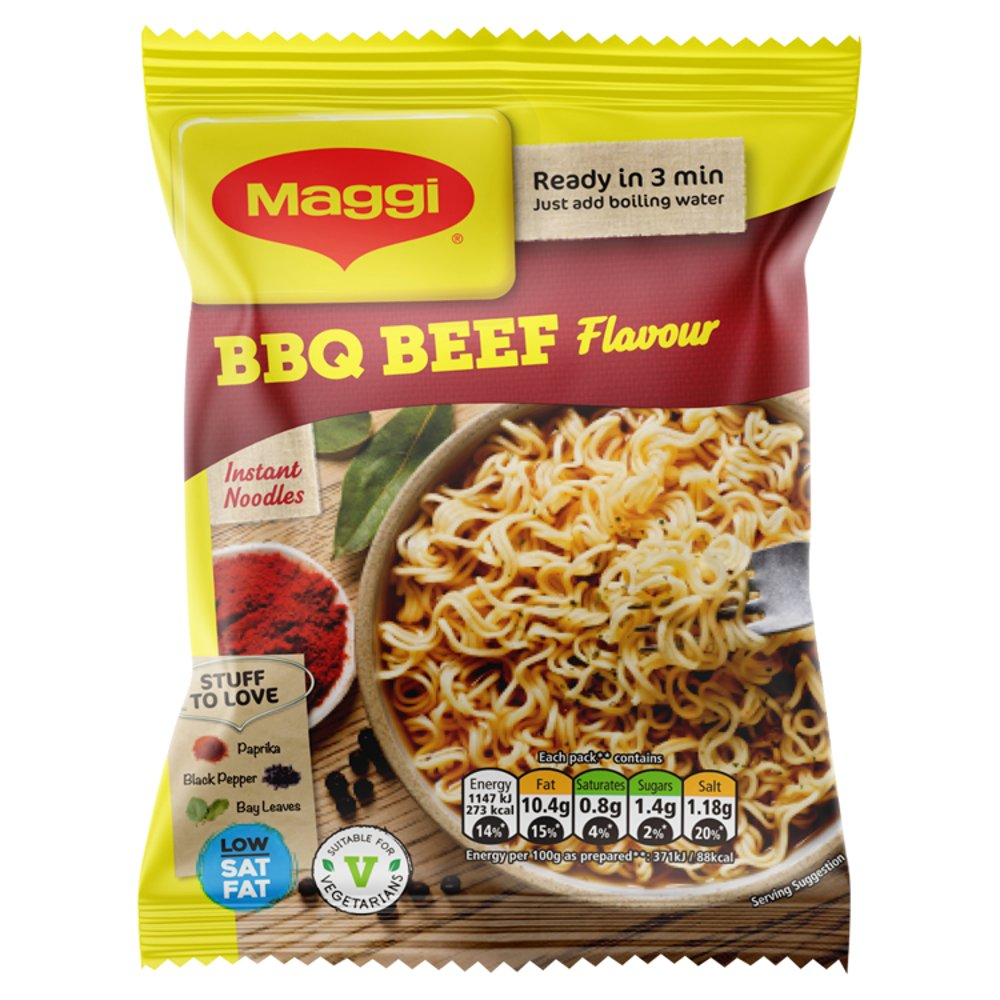 Maggi Instant Noodles BBQ Beef Flavour 59g