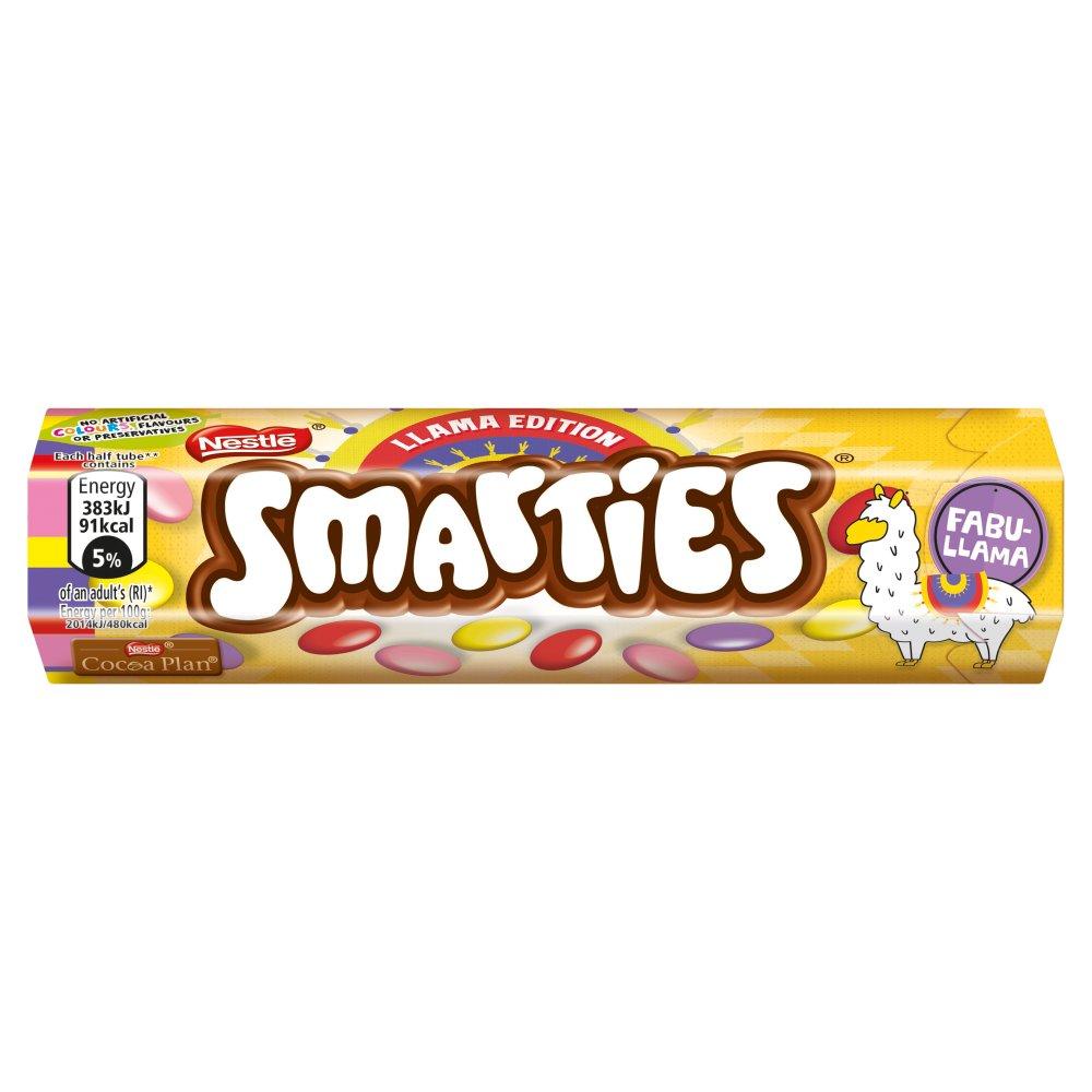 Smarties Llama Limited Edition Milk Chocolate Sweets Tube 38g