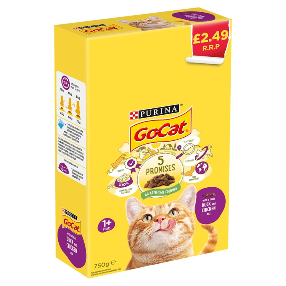 Go-Cat With a Tasty Duck and Chicken Mix 1+ Years 750g