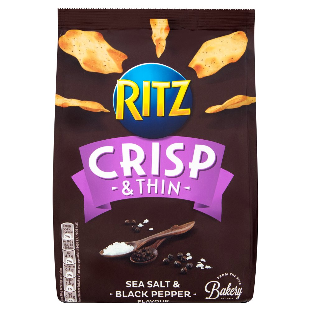 Ritz Thins Salt And Black Pepper
