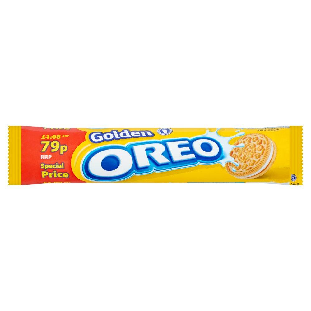 Oreo Golden Sandwich Biscuits 79p 154g