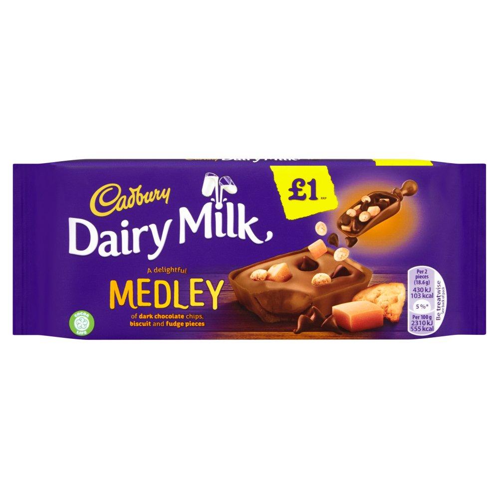 Cadbury Dairy Milk Medley Fudge £1 Chocolate Bar 93g