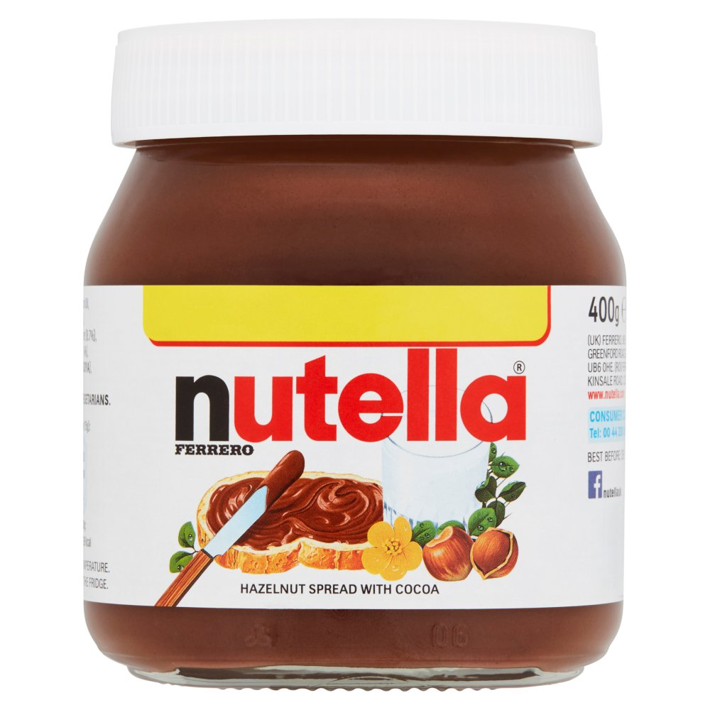 Nutella Hazelnut and Chocolate Spread Jar 400g