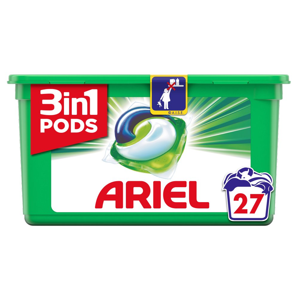 Ariel 3in1 Pods Original Washing Liquid Capsules 27 Washes