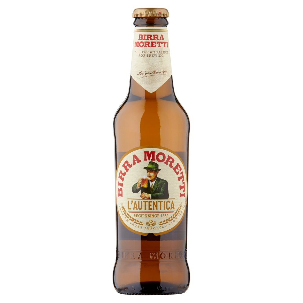 Birra Moretti Lager Beer 330ml Bottle