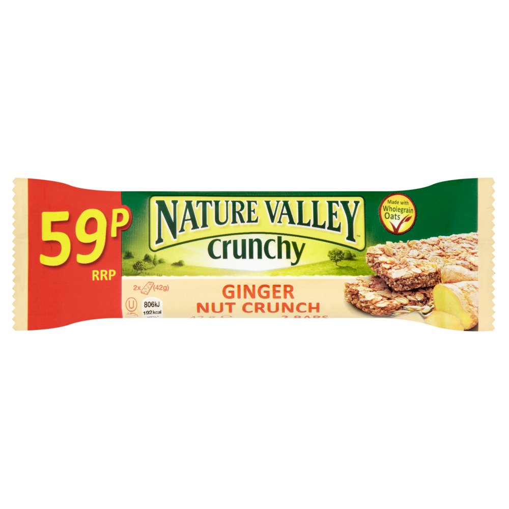 Nature Valley Crunchy Ginger Nut Bar 42g PMP 59p