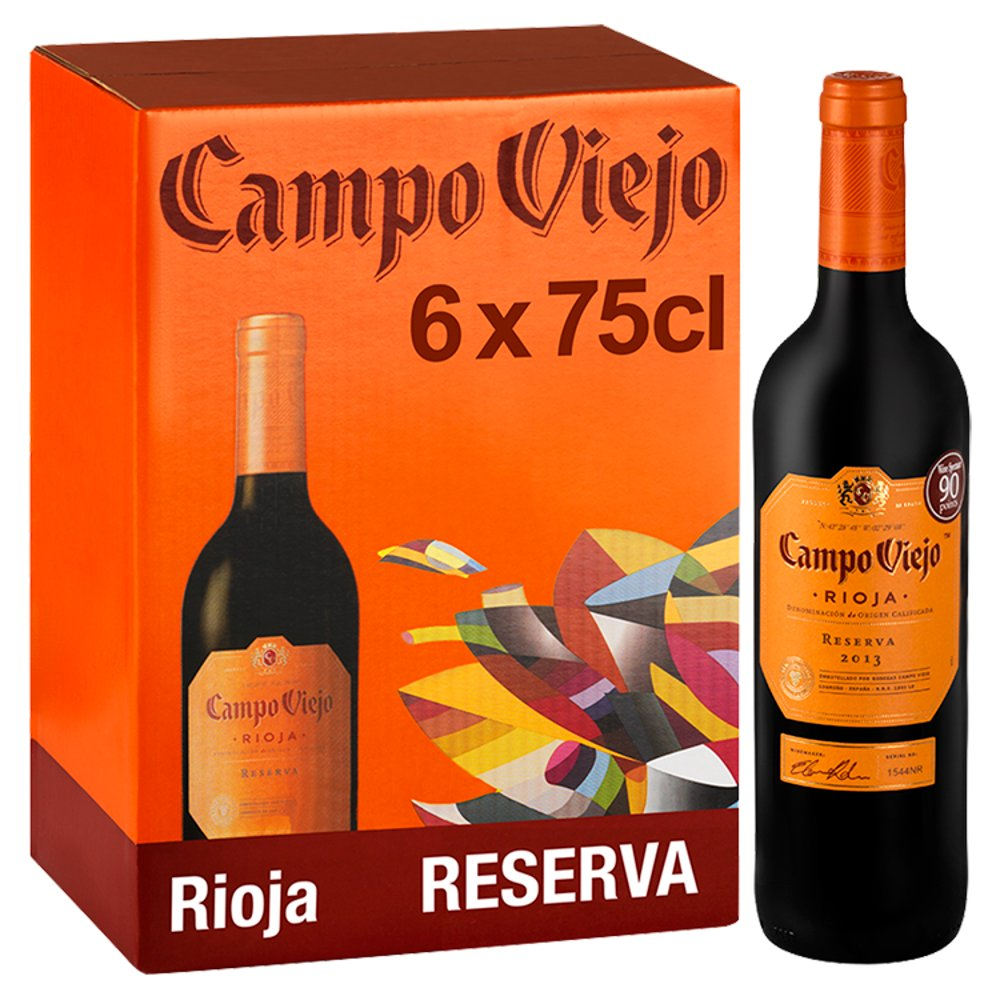 Campo Viejo Rioja Reserva Red Wine 6 x 75cl