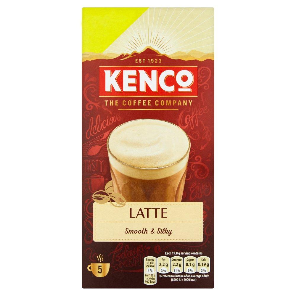 Kenco Latte Instant Coffee 150 Pmp Sachets X5 Bestway