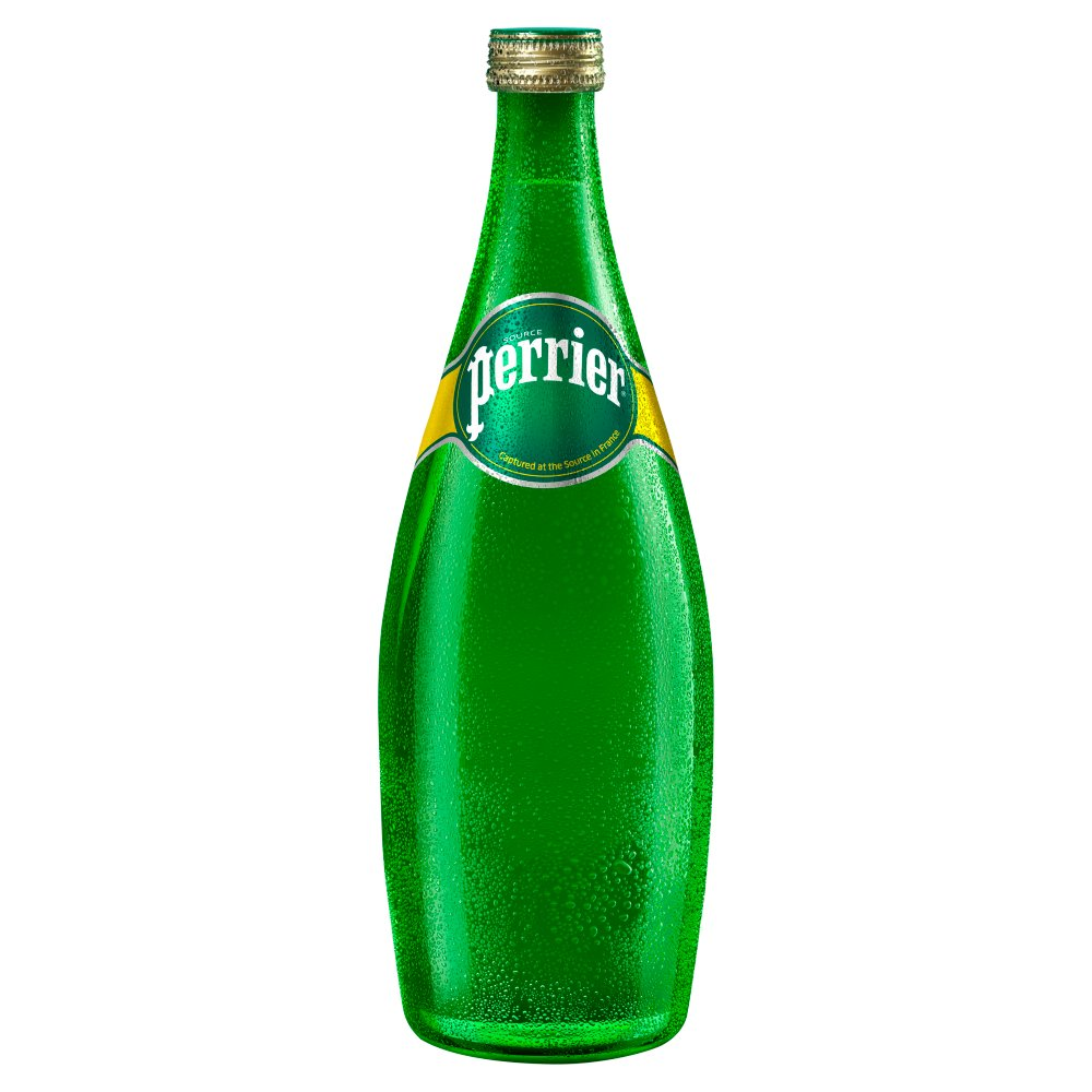 Perrier Sparkling Natural Mineral Water Glass 750ml