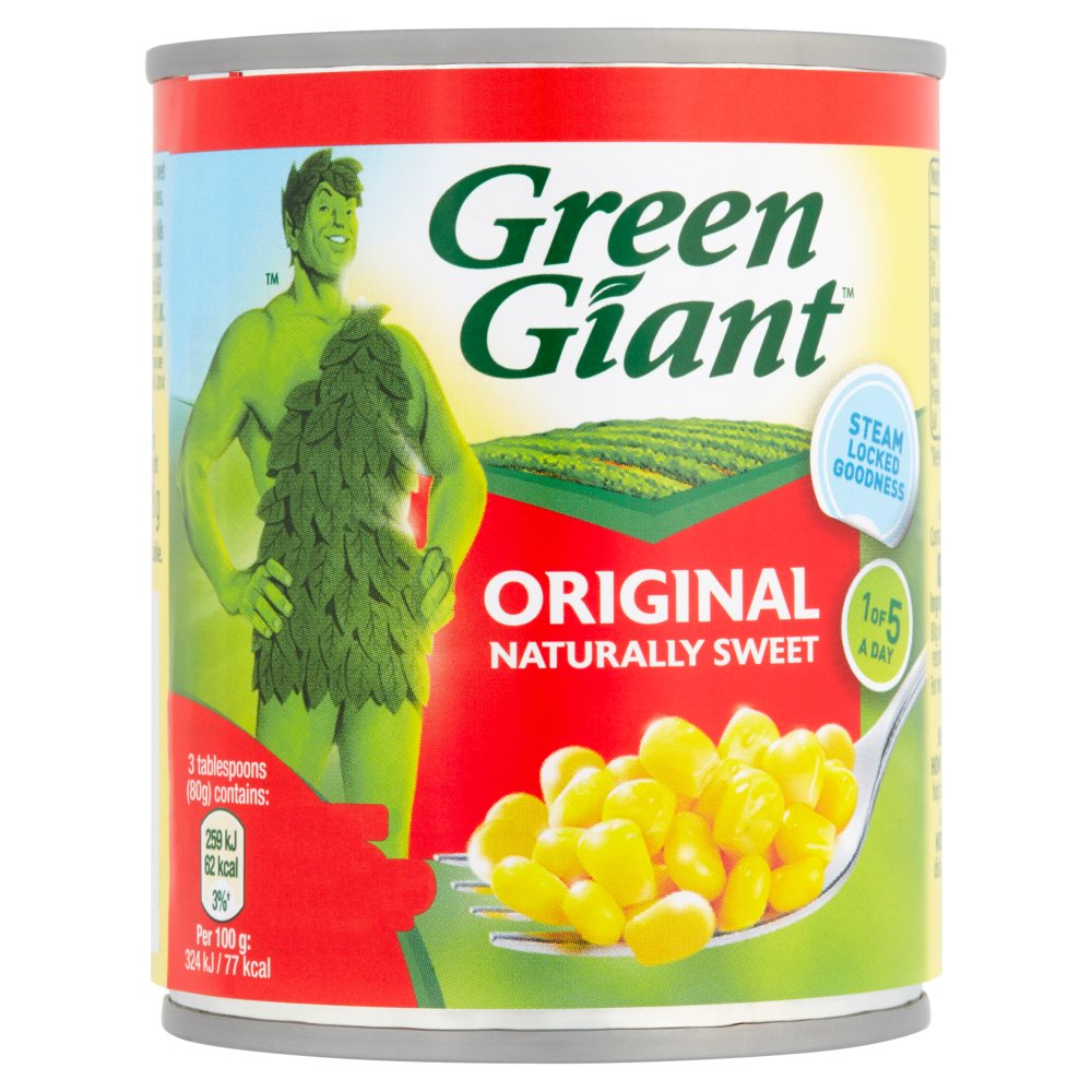 Green Giant Original Nat Sweet PM 75p 2 For £1.45