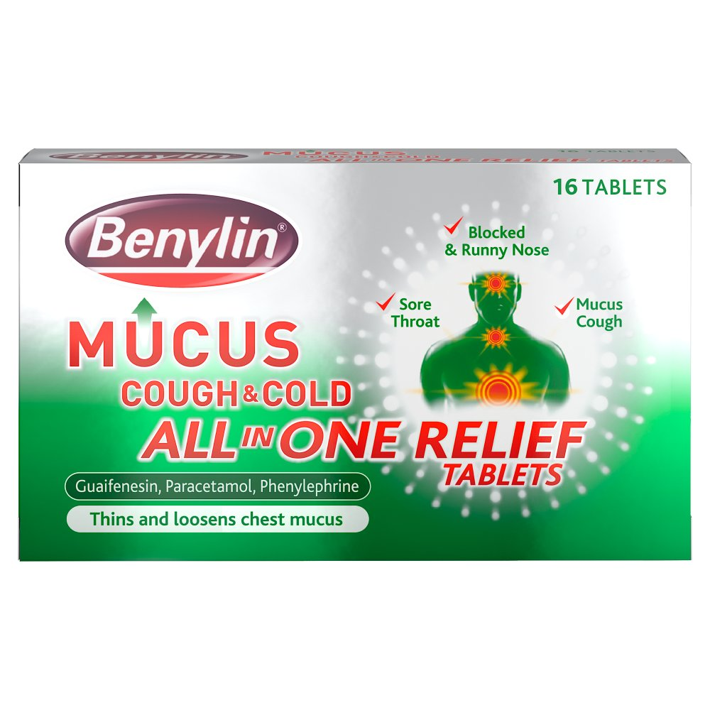 Benylin Mucus Cold & Flu All In One Tablets 6 For 5