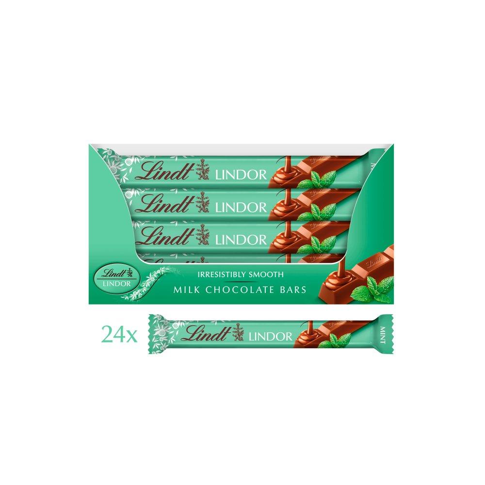 Lindt Lindor Mint Milk Chocolate Bar 38g