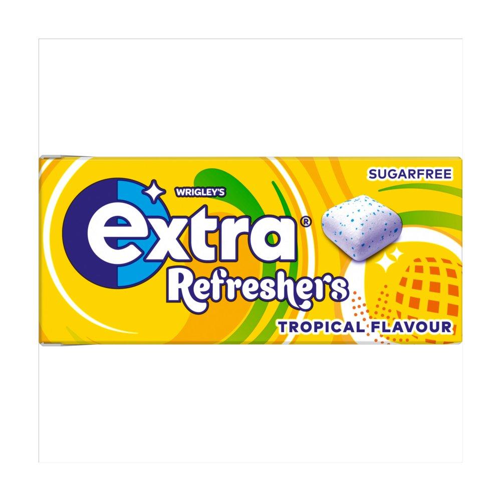 Extra Refreshers Tropical Sugar Free Chewing Gum Handy Box 7pcs