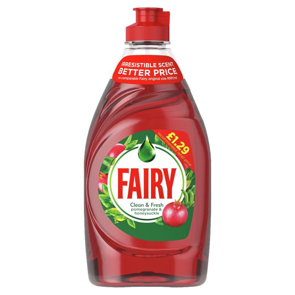 Fairy Clean & Fresh Washing Up Liquid Pomegranate & Honeysuckle 433 ml