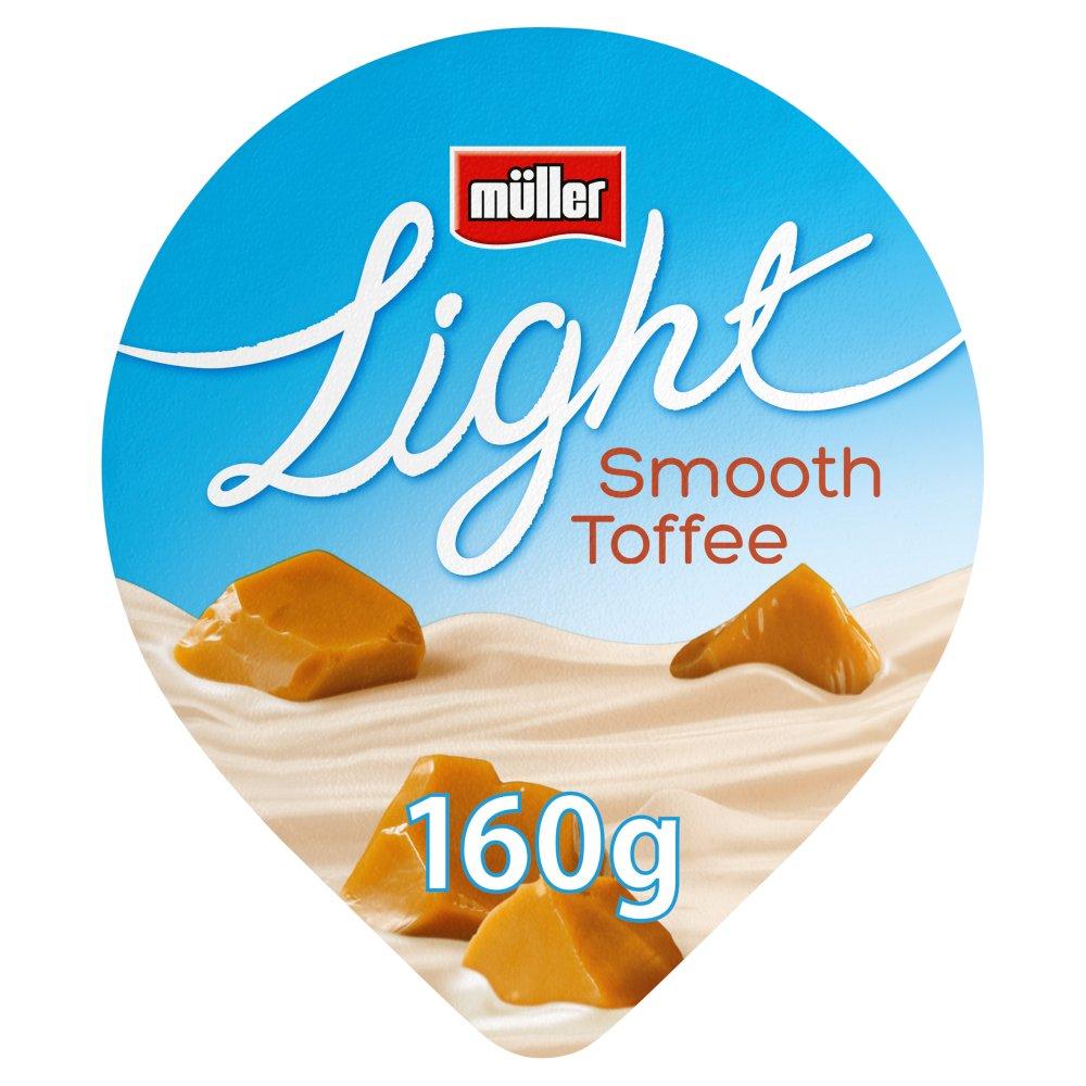 Muller Light Toffee Fat Free Yogurt 160g