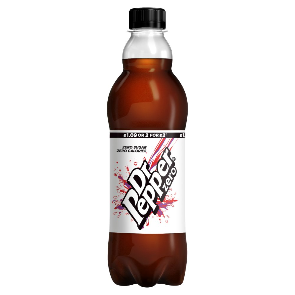 Dr Pepper Zero 500ml PMP £1.09 or 2 for £2