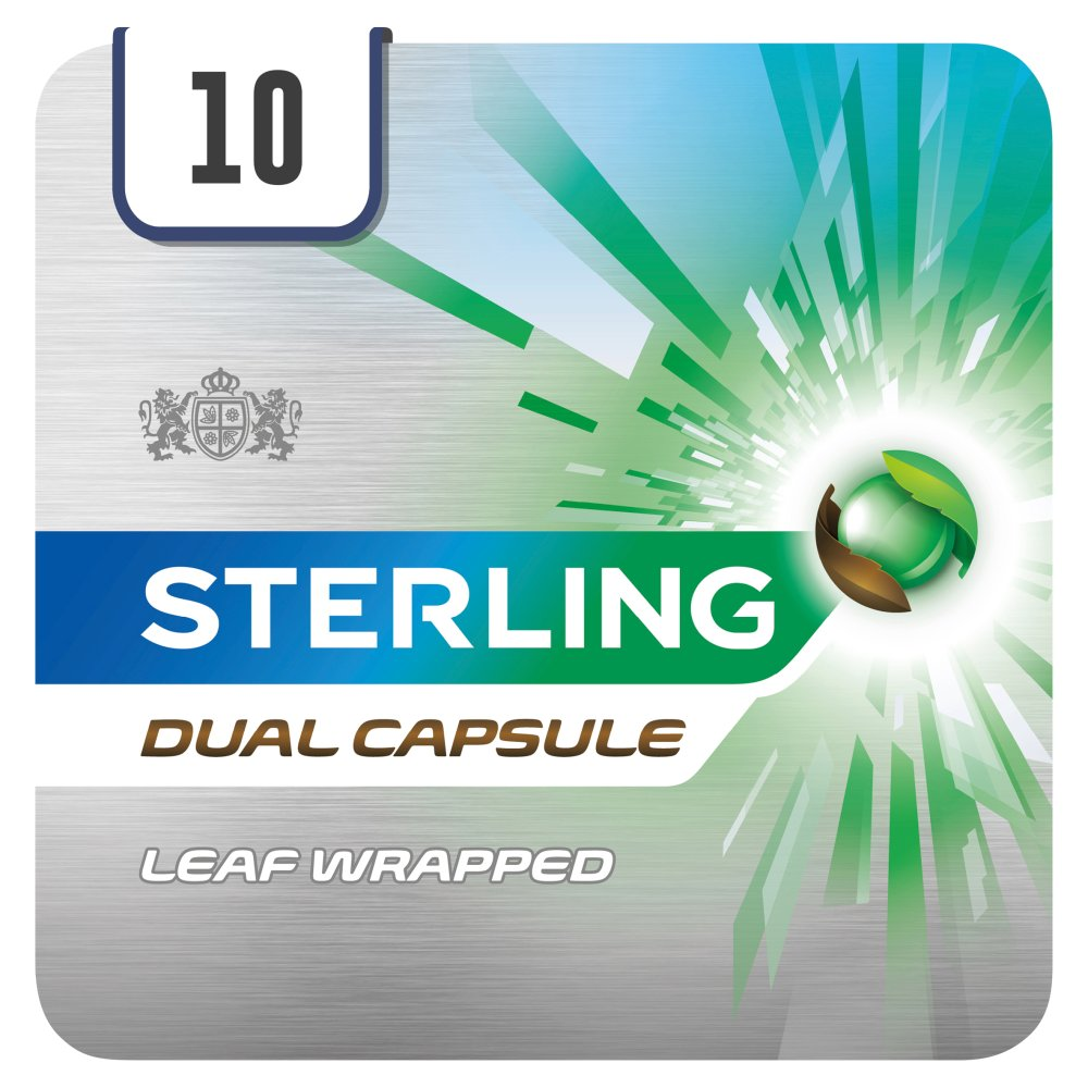 Sterling Dual Capsule Leaf Wrapped 10