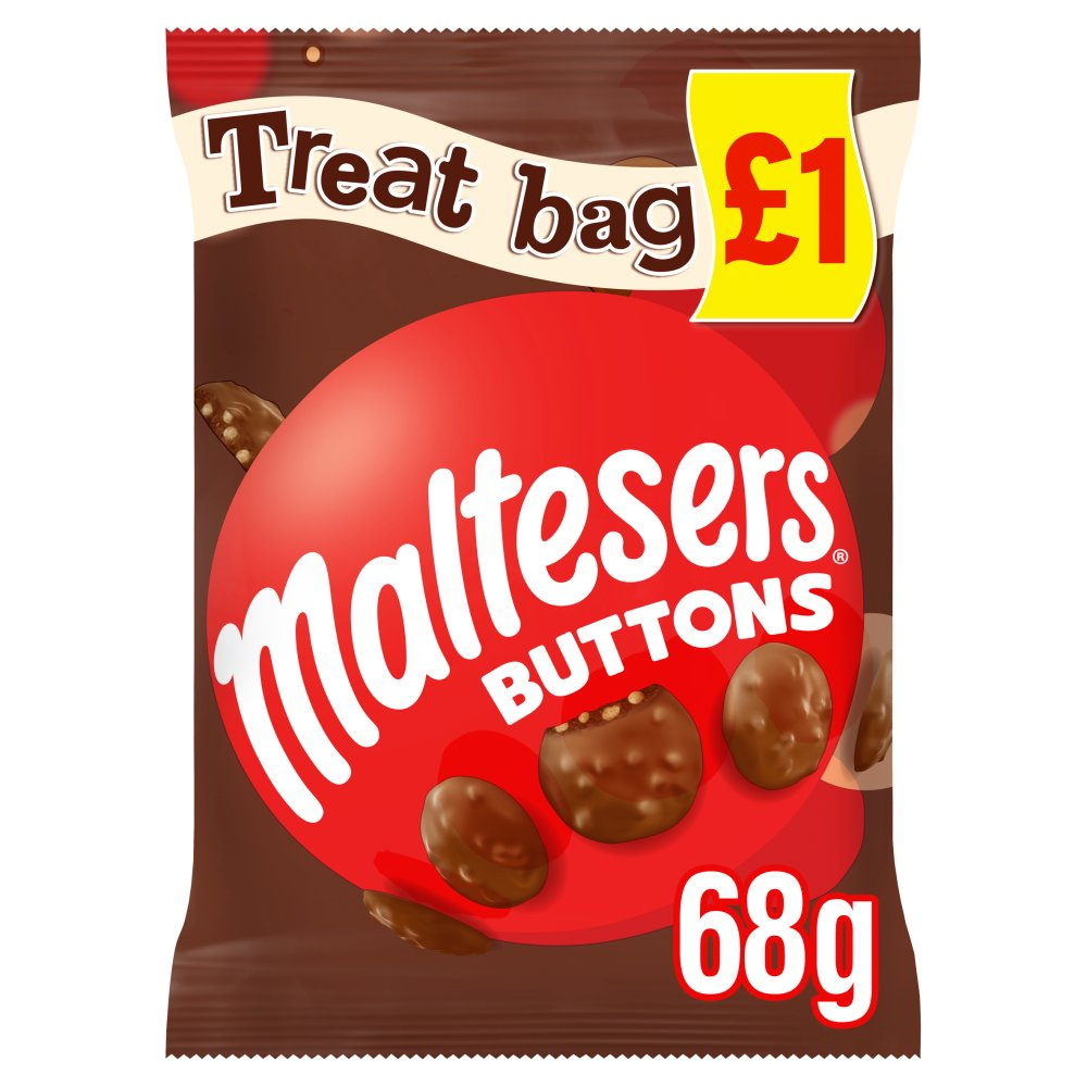Maltesers Buttons Chocolate £1 PMP Treat Bag 68g