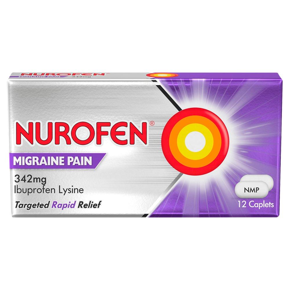 Nurofen Migraine Pain Caplets, Pack of 12