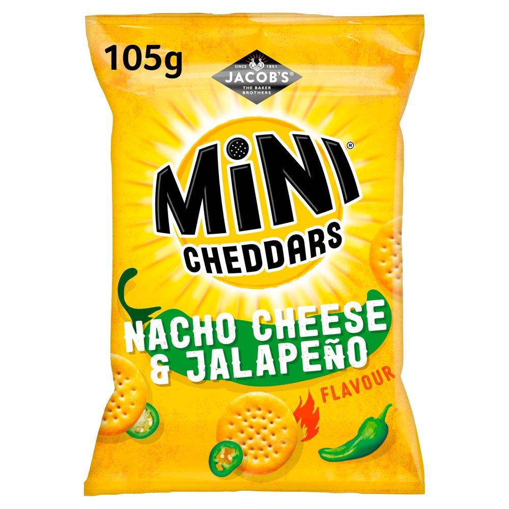 Jacob's Mini Cheddars Nacho Cheese & Jalapeño Flavour 105g