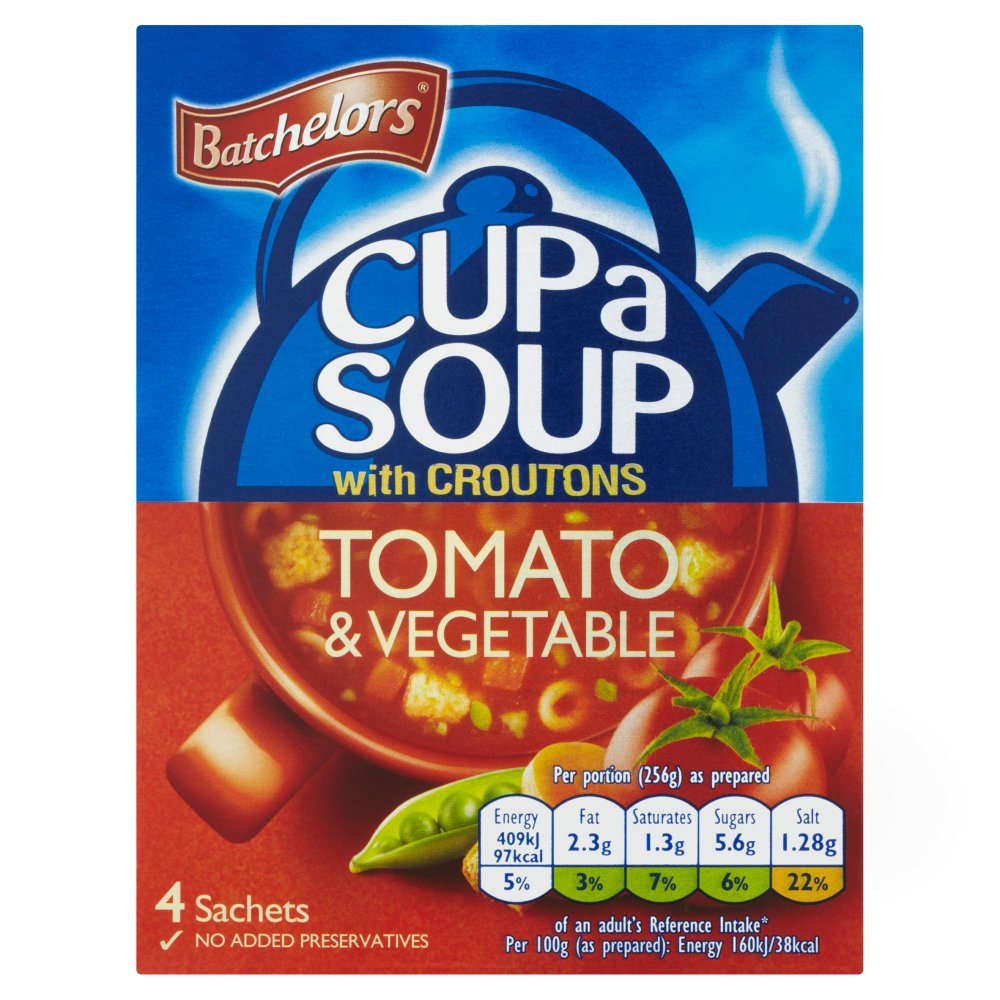 Batchelors Cup A Soup Tomato & Veg 109g