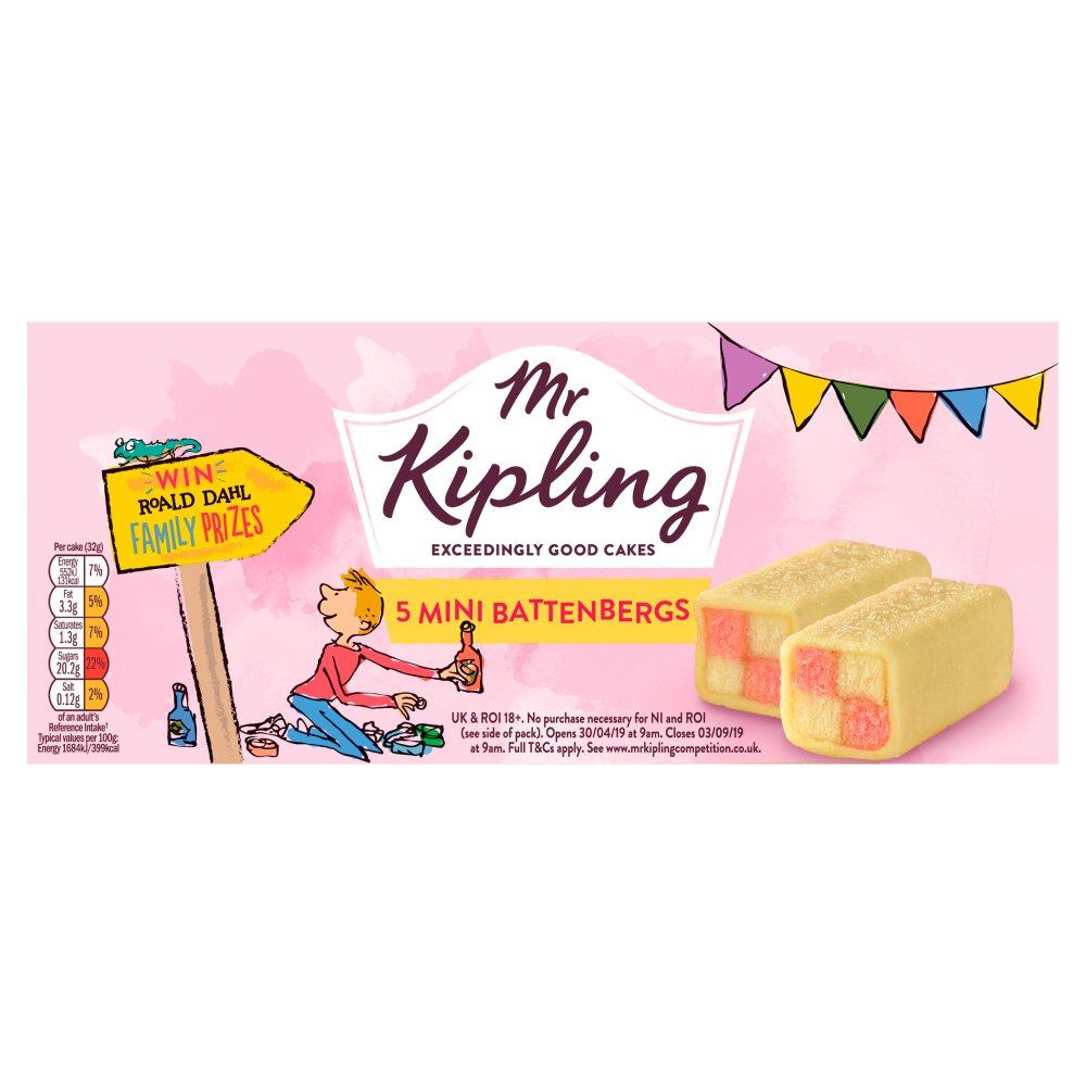 Mr Kiplings Mini Battenbergs