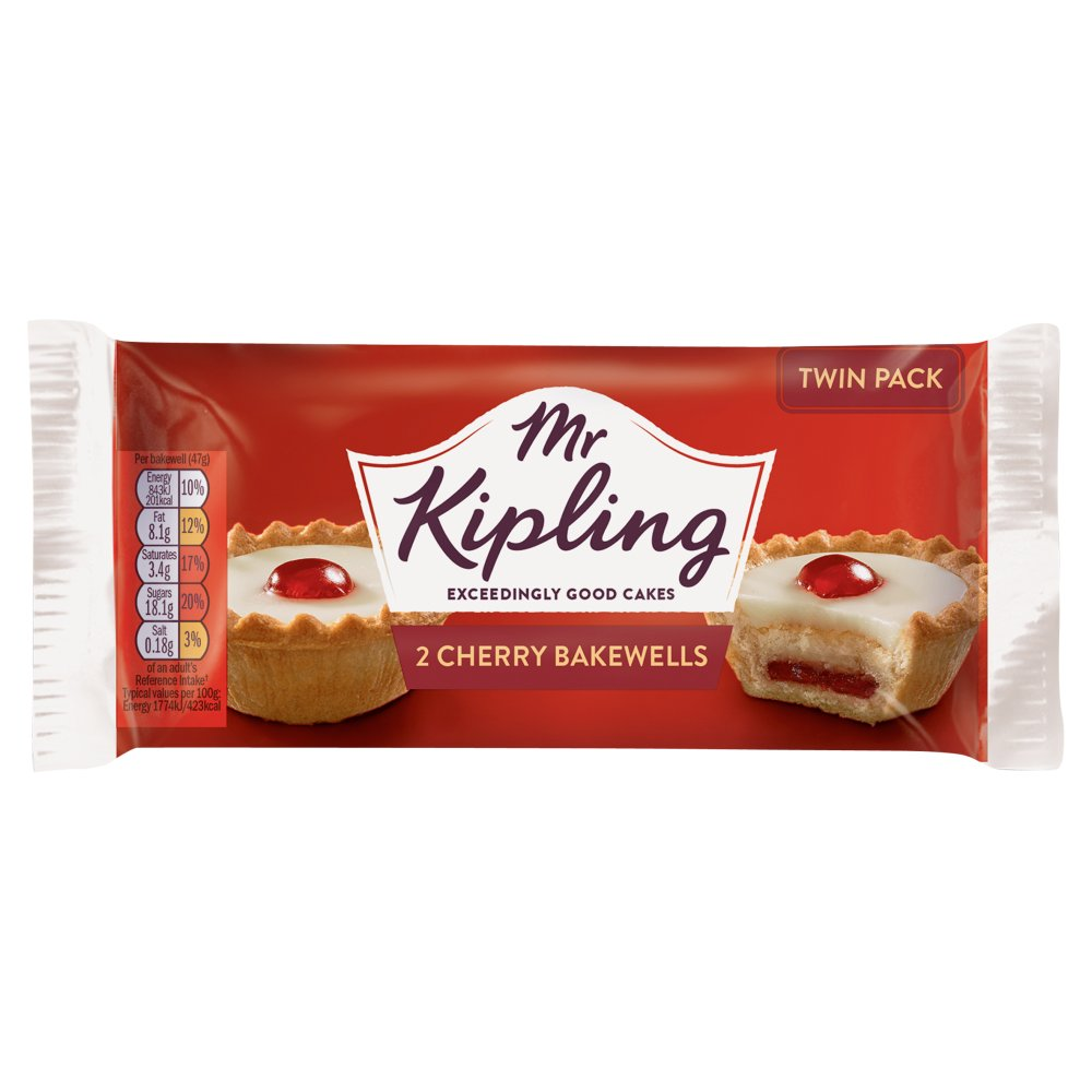 Mr K Cherry Bakewell Twin