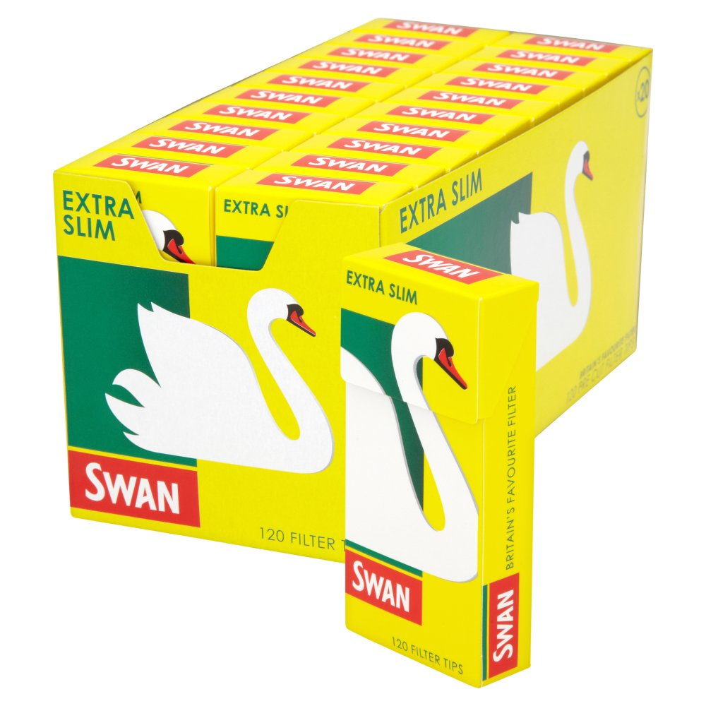 Swan Pre Cut Filter Tips Extra Slim 20 x 120 Filter Tips