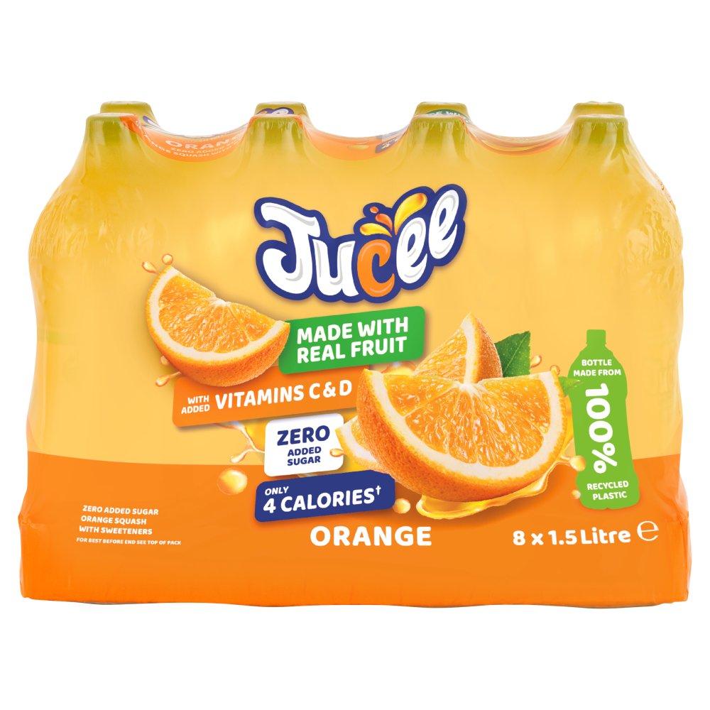 Jucee No Added Sugar Orange 8 x 1.5 Ltr