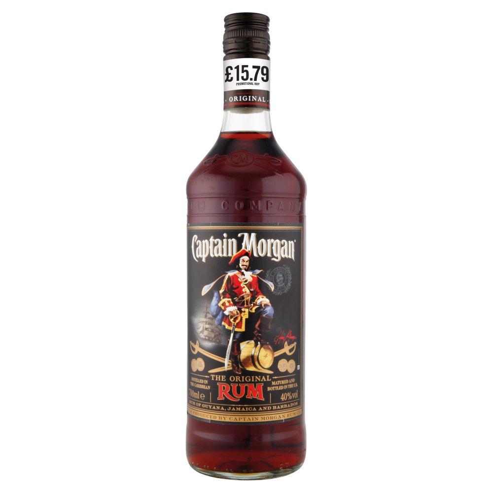 Captain Morgan Dark Rum PMP £15.49 70cl