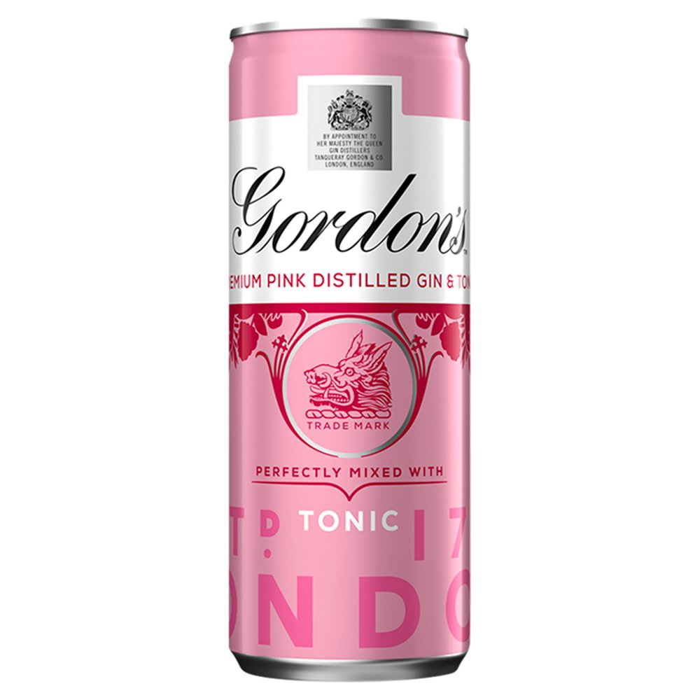 Gordon's Premium Pink Distilled Gin and Tonic 250ml