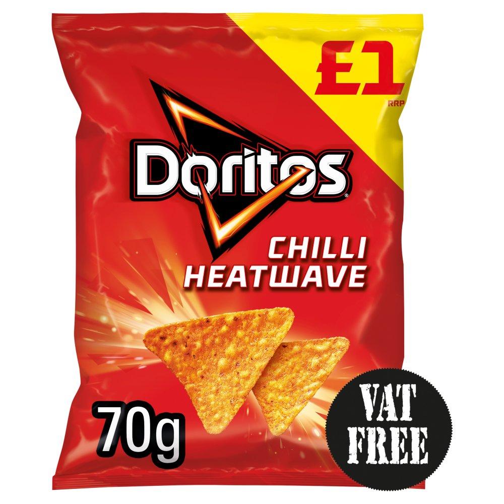 Doritos Chilli Heatwave Tortilla Chips £1 PMP 70g