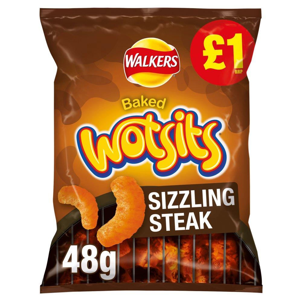 Walkers Wotsits Sizzling Steak Snacks £1 RRP PMP 48g