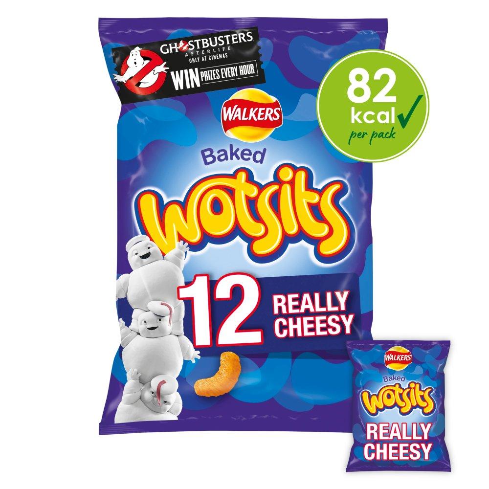 Walkers Wotsits Really Cheesy Multipack Snacks 12x16.5g