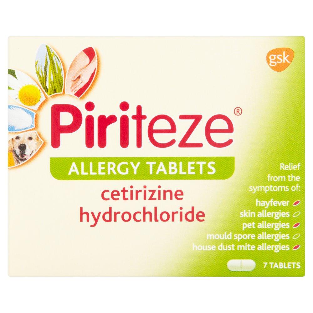 Piriteze Allergy Tablets 7 Tablets